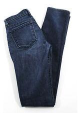 J BRAND Dark Blue Cotton Skinny Leg Five Pocket Denim Jeans SZ 24