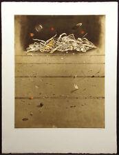 """Hiroshi Asada """"Ciel Sombre"""" Hand Signed Art Color Etching surrealist Artwork OBO"""