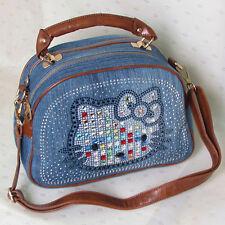 HelloKitty Crystals Messenger Cross body Handbag Tote Shoulder Bag Small Size