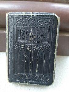 Vintage KEY OF HEAVEN Catholic Black Prayer Book 1927 Rare