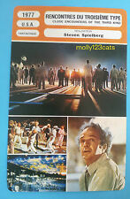 US film Close Encounters Of The Third Kind Steven Spielberg French Trade Card