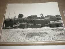 photo Egypt Feluccas Abu Sueir village c1940s