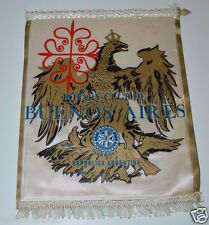 Vintage Buenos Aires Republica Argentina Rotary International Club Banner RARE