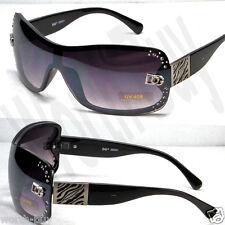 New DG Designer Womens Rhinestones Sunglasses Shades Fashion Shield One Lenses
