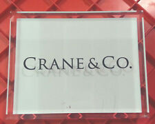 "Crane & Co. Lucite Acrylic Sign (7"" x 5.5"" x 1"") Paper Stationery Invitations"