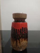 Vase vintage West Germany Fat Lava 70 Vallauris Scheurich Bay Keramik Space Age