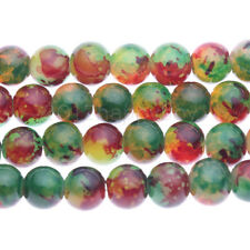 50PCS Precious Natural Floral Stone Gem Round Beads For Jewellery Making 8MM