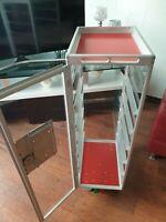 Flugzeug trolley, Airline trolley, Aircraft Cart, Rot, Transp. Seiten NEW, NEU