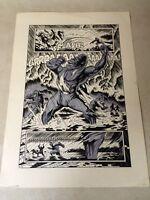 PLANET of the APES #3 original comic art WILD CHEST POUNDING APE SPLASH 1990