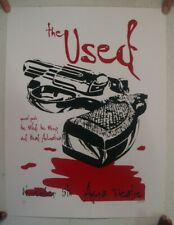 The Used Poster Silkscreen Bloody Pistol Agora Theatre