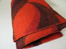 More details for van wyk - leidse deken - vintage - holland dutch - blanket - red tones - throw
