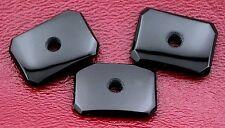 2 18x13 Black Onyx Buff Top Emerald Octagon 2mm Hole Cabochon Ring Blank borbc22
