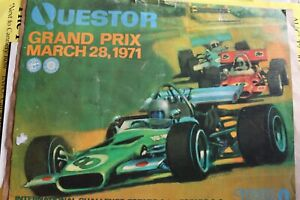 Questor Grand Prix March 28, 1971 Poster Plus 2 Formula 1 Posters