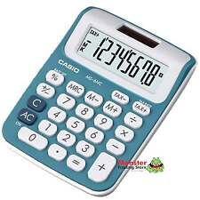 AUSSIE SELLER CASIO DESK CALCULATOR 8 DIGIT MS-6NC-BU BLUE COLOUR SOLAR+BATTERY