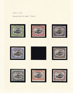 British New Guinea. 1906-07. 1/2d to 2/6. Ovpt small 'Papua'