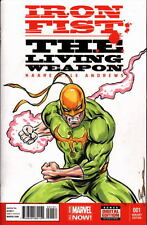 Marvel Sketch Cover IRON FIST Original Color Artwork by Artist DAMON BOWIE