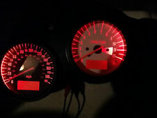 RED Suzuki SV650S 99 T0 02 CURVY led dash clock conversion kit lightenUPgrade