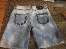 Miss Me Jeans shorts blue denim W 30 x L 9 women's 26 juniors sparkle bling