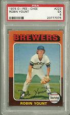 1975 OPC #223 Robin Yount O-Pee-Chee  HOF Milwaukee Brewers PSA 5 Rookie Card