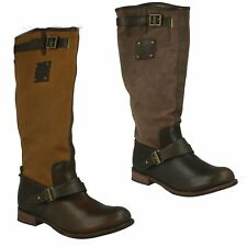 CATERPILLAR CORRINE LADIES LEATHER PULL ON KNEE HIGH CASUAL WINTER BOOTS SHOES