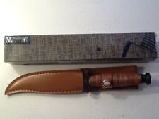 "NIB Whetstone Cutlery Fixed Blade Knife 9.25"" with Leather Sheath"