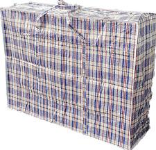 4x Jumbo Taschen Big Bag Aufbewahrung Beutel Sack kariert leicht faltbar groß BL