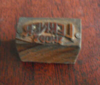 Supervised Shares Inc. Vintage Letterpress Advertising Block Free Shipping Metal On Wood 1x0.75inch