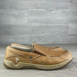 Margaritaville Men's Havana Tan Leather casual Loafers 8.5