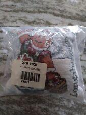 Longaberger Fabric Door Knob Hanging Pillow Snow woman Mint Free Shipping!