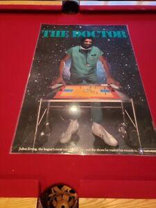 RARE 1970s Julius Erving 24x36 Inch Laminated Converse Poster Philadelphia 76ers