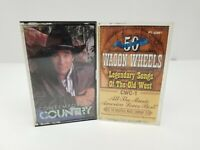 Country Cassette Tapes Lot of 2 Wagon Wheels No1 & Contemporary Country Late 80s