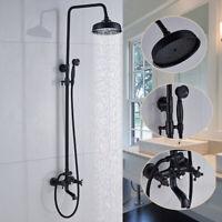 Duschsystem Duscharm Wandmontage Badzimmer Duscharmatur Bronze Öl eingerieben
