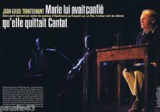 COUPURE DE PRESSE CLIPPING 2004 Jean-Louis Trintignant & Marie  (6 pages)