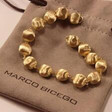 MARCO BICEGO AFRICA 18K YELLOW GOLD 15 BEADS CHAIN BRACELET, 8 INCHES LONG