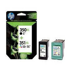 2 Genuine HP 350XL 351XL Black Colour Ink Cartridges For C4250 C5200 C4480 D5368
