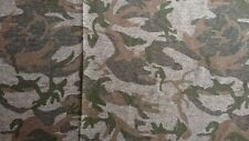 Knit  fabric remnant 150 cm x 100 cm camouflage design