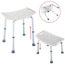 Bath Shower Chair Adjustable Medical 8 Height Bench Bathtub Stool Seat White New