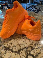 Womens Orange Platform Sneakers Hidden Wedge UK Size 5 US Size 7 Public Desire