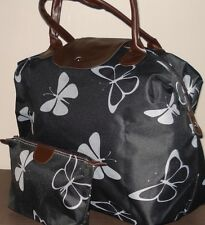 Butterfly Print Travel Bag/Holdall and Matchiig Wash Bag