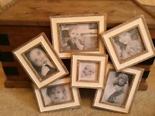 Gorgeous Shabby Chic Lime Washed Overlayed Multi Picture Photo Frame