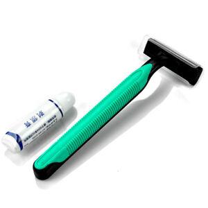 Travel Portable Razor Shaver Grainer With Shaving Cream 1pc