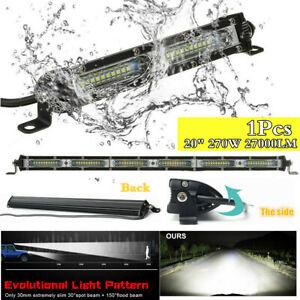"1Pc Single Row 20"" LED Work Light Bar 270W Driving Offroad Flood Spot Combo Beam"