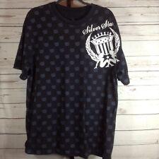 Silver Star Mens Shirt Black Short Sleeve Size 2XL