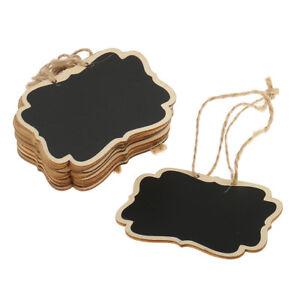 12pcs Wooden Blackboard Chalk Board Christmas Gift Tags Ornament Craft