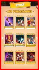 Set RITTER Komplett !!!! Coinmaster Coin Master Card Marssalat TOP