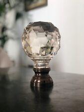 Hand cut crystal glass Boules D'escalier / Newel post finial top.