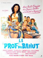 Affiche 60x80cm LA PROF DU BAHUT (LA PROFFESSORESSA…) 1979 Lilli Carati TBE