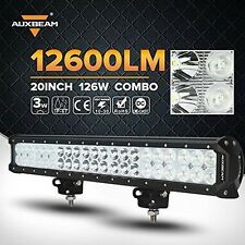 Auxbeam 20 inch 126W Cree Led Light Bar Spot Flood Straight Off Road