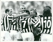 1994 CONTE RAVANELLI DI LIVIO Foto originale festeggiamento Juventus Samp 1-0