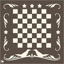Primitive Stencil. Crows Checkerboard Game Board Primitive Home Decor Country